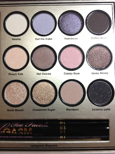 too faced eyeshadows