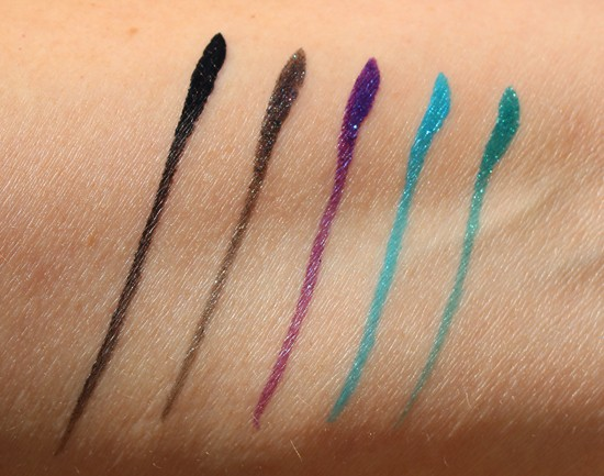Milani ultrafine eyeliner swatches
