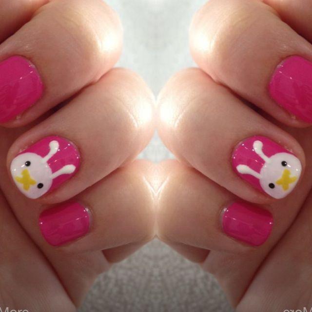 cute rabbit nail art