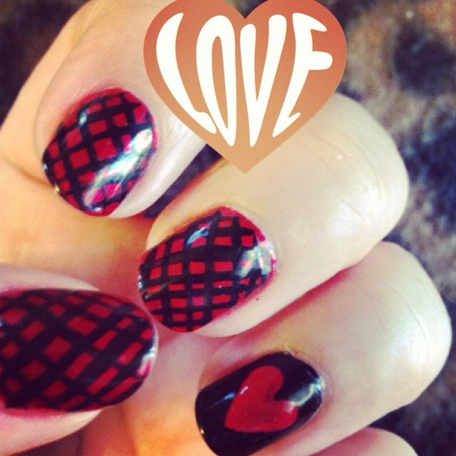 Plush Beauty Bar Valentine's Nail Art