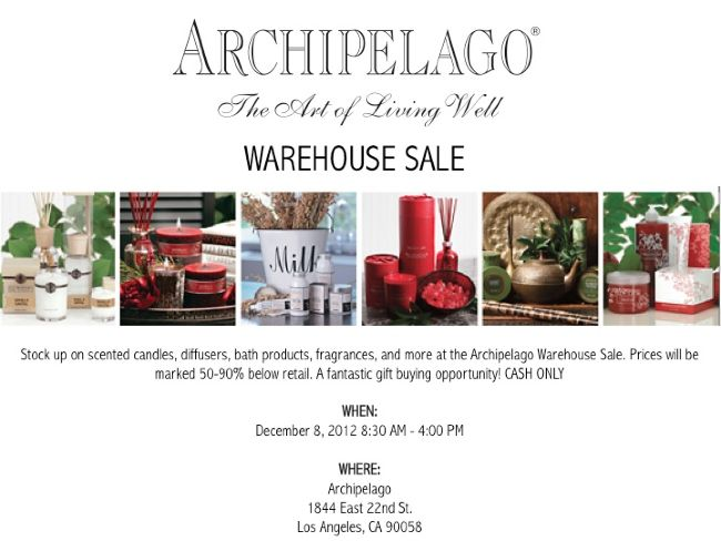 Archipelago Botanicals warehouse sale
