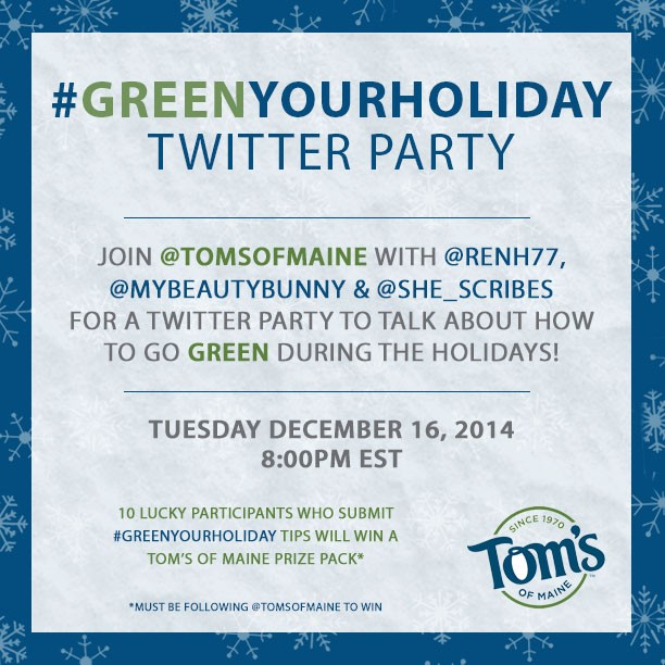 #GreenYourHoliday Twitter Party