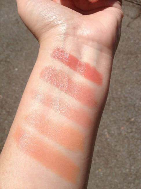 Nude lipstick swatches