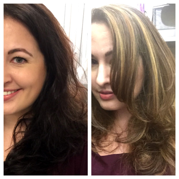 brunette to blonde patricia lynn laas hair studio
