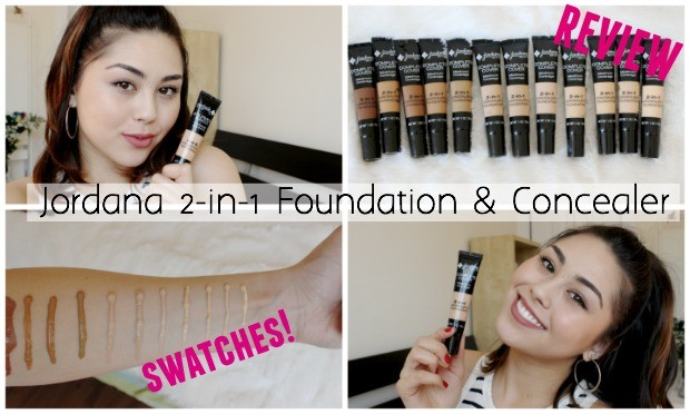 Jordana Concealer Swatches and Tutorial