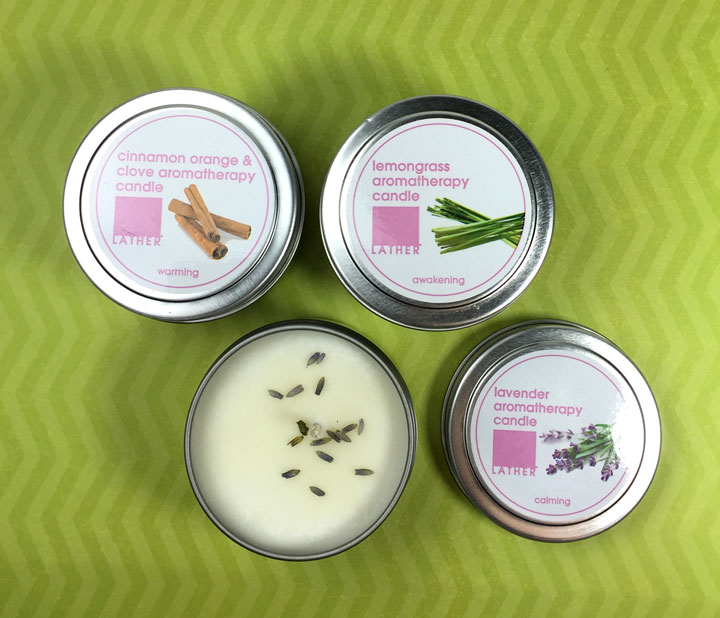 LATHER cruelty free candles