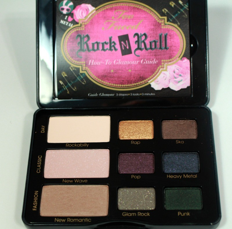 Too Faced Rock In Roll Palette Open