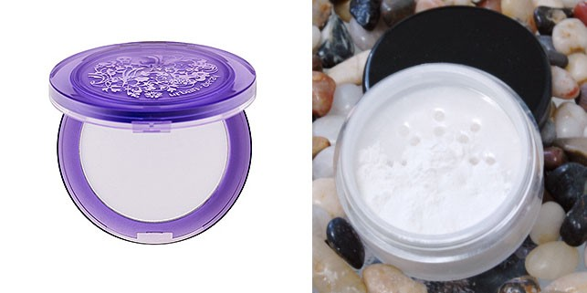 UDde-slick powder vs. Silk Naturals' perfecting powder