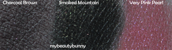 Nyx Charcoal Brown, Smoked Mountain, Very Pink Pearl