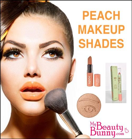 peach makeup