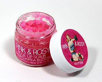 pink and rosy lip scrub