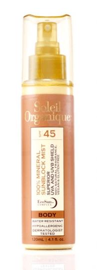 Soleil Organique Mineral Mist Giveaway
